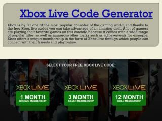 When it comes to computer based games, you cannot really beat the kind of experience that you get when you play the Xbox live gold free. Check this link righ...