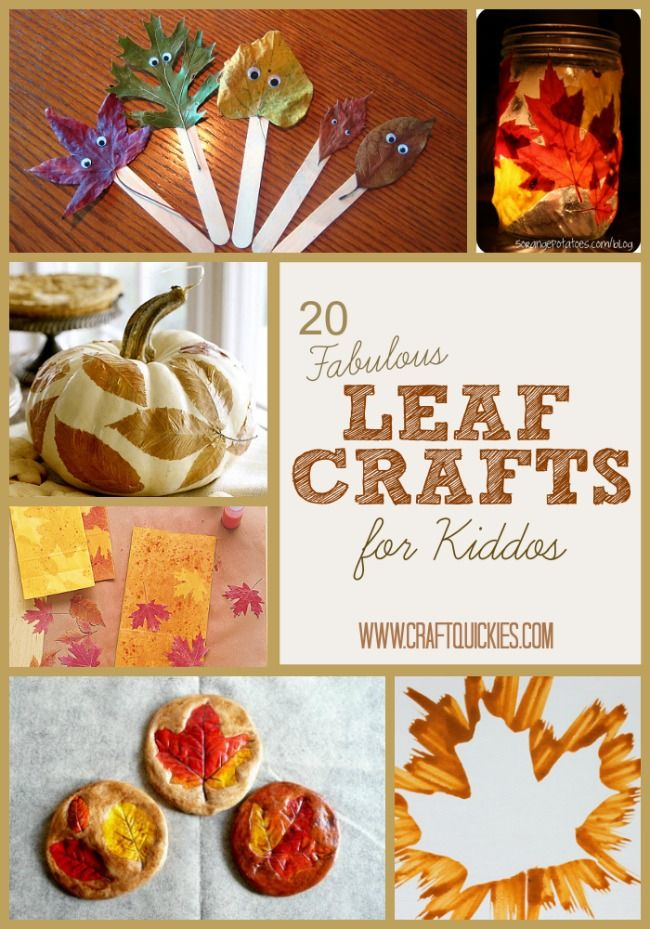 20 Fabulous Leaf Crafts for Kiddos from Craft Quickies