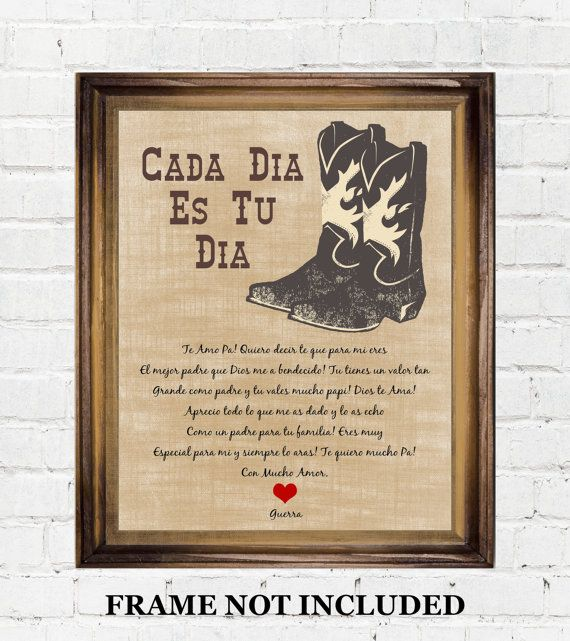 unique fathers day gift ideas for dad thank padre in english or spanish,