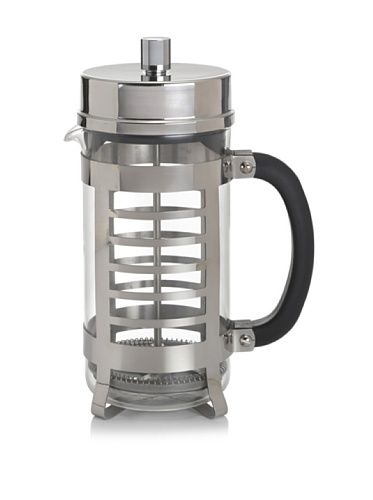 www.myhabit.com  Durable heat-resistant borosilicate glass carafe, protective stainless steel frame with linear cutouts, patented Flavor Lock filter system