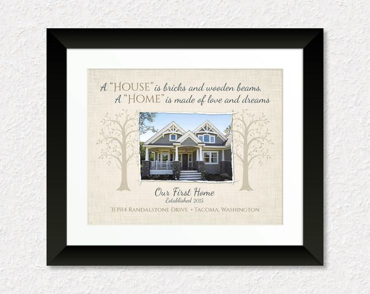 Custom Housewarming Gift, Personalized New House Print with Photo, Wedding Present, Our First Home, Couples Gift, Real Estate Agent Gift, Home Decor, Keepsake print by #KeepsakeMaps on Etsy for $24.95