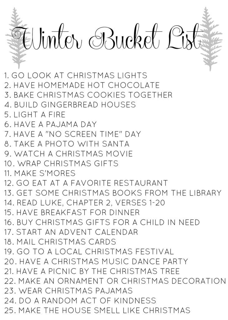 Christmas bucket list // Love & Renovations