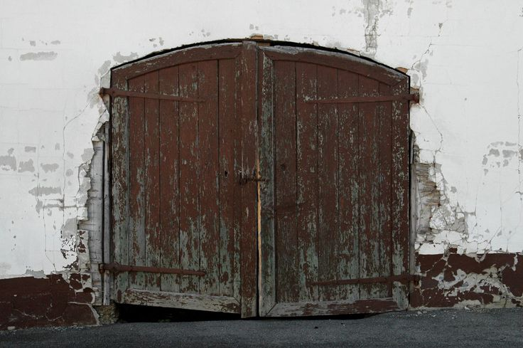 Old Barndoors of a barn in a small village in Bavaria Germany