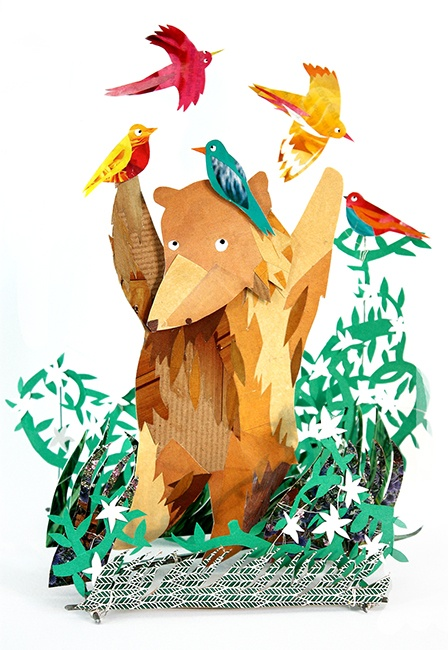'Animals' paper illustrations, by Kate Slater: Birds Illustrations, Kate Slater, Kate Fete, Paper Art, Bears Illustrations, Paper Illustrations, Slater Illustrations, Inspiration Art, Animal