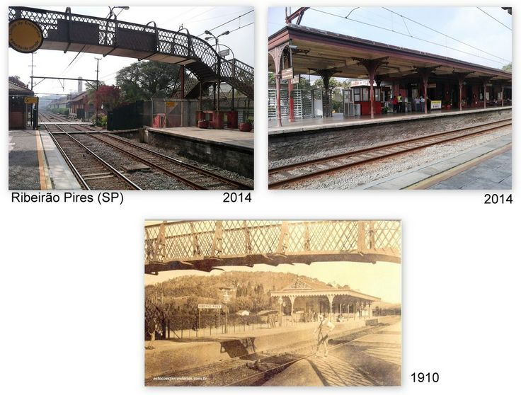 CPTM train station in the city of Ribeirao Pires, SP - Brazil