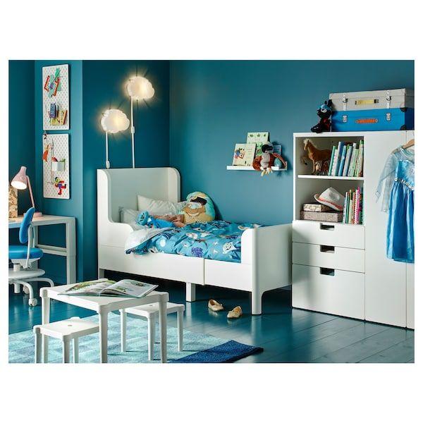 Busunge Bettgestell Ausziehbar Weiss Ikea Deutschland Kinder Zimmer Kinderzimmer Mobel Schlafzimmer Fur Kinder