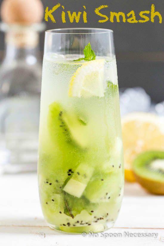 Tequila Kiwi & Mint Smash- Refreshingly Delicious!