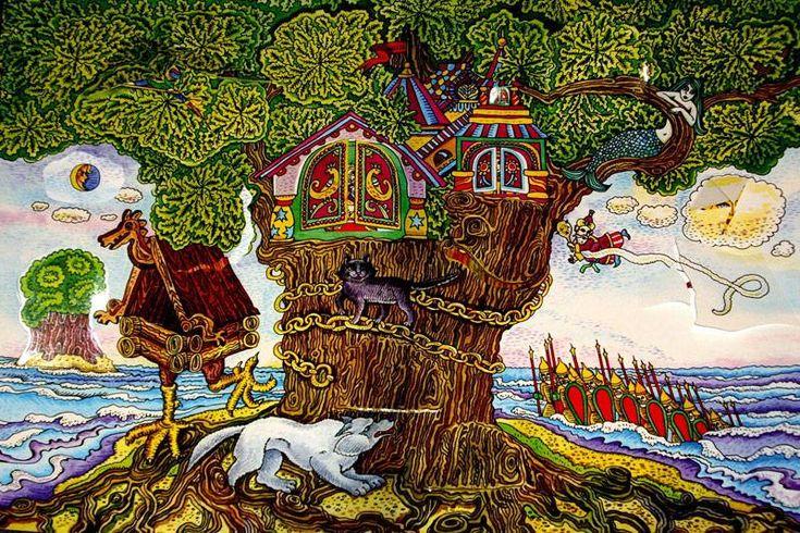 Картинки у лукоморья дуб зеленый, анимашка
