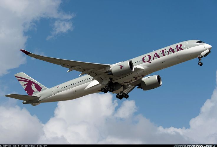 Airbus A350-941, Qatar Airways, A7-ALC, cn 009, 283 passengers, first flight 27.3.2015, Qatar delivered 7.5.2015. 30.5.2016 flight Boston - Doha. Foto: Singapore,  27.2.2016.