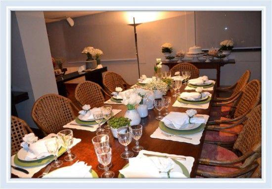 Decoração da mesa de jantar - Noivado