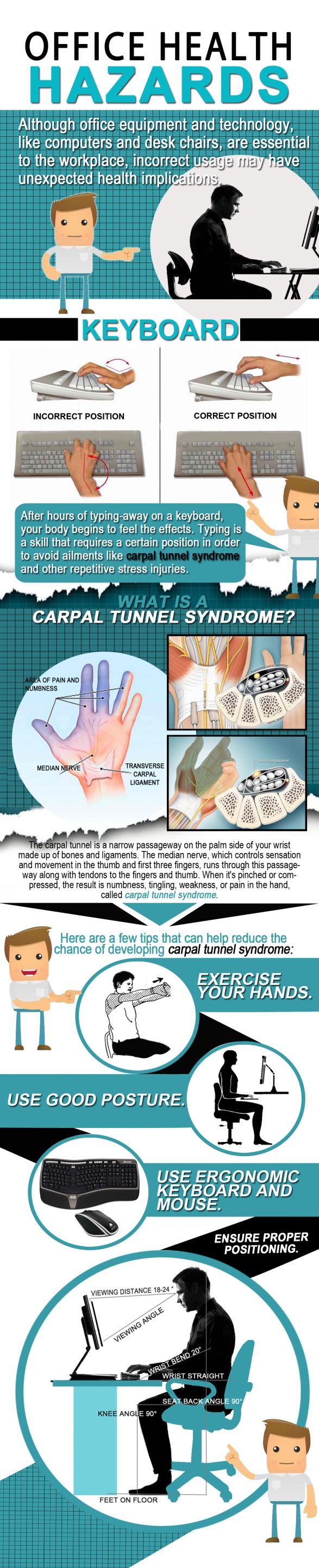 #Office #Health Hazard - How To Prevent Carpal Tunnel Syndrome