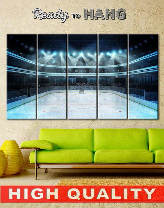 Décor de salle de hockey les garçons hockey salle art mural