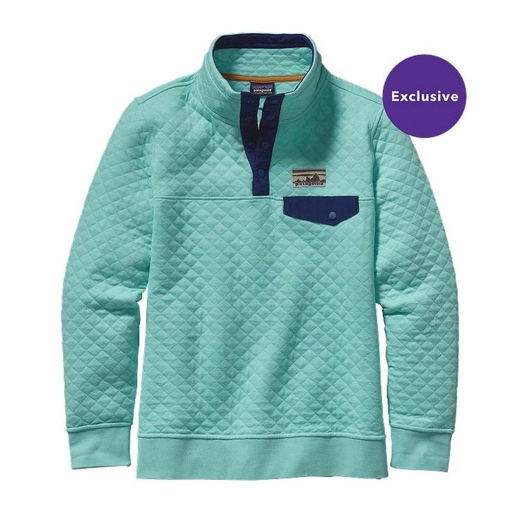 Patagonia Women\'s Cotton Quilt Snap-T\u00AE Pullover - Howling Turquoise HWLT