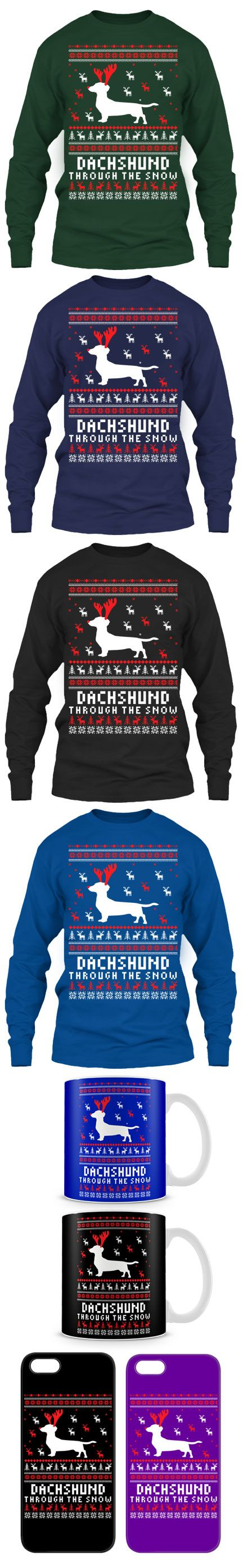 Dachshund Ugly Christmas Sweater! Click The Image To Buy It Now or Tag Someone You Want To Buy This For.