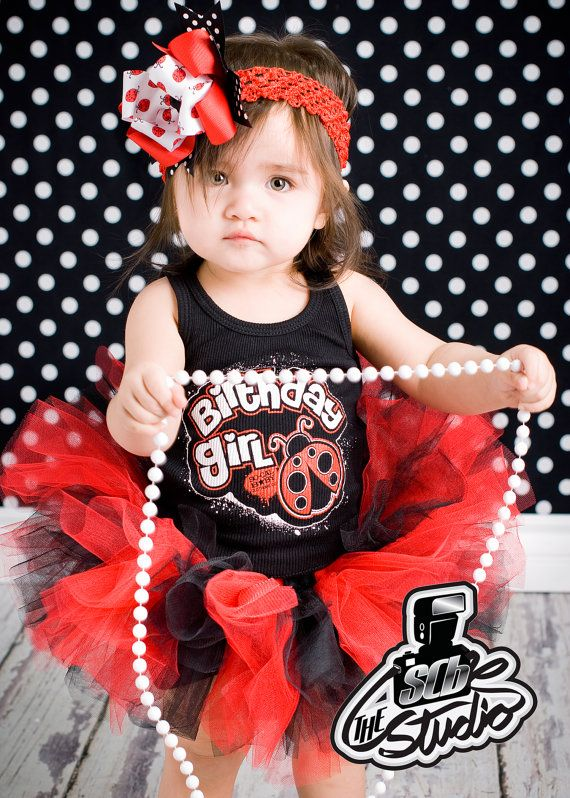 Ladybug Birthday Tutu Set by socalbabyclothing on Etsy