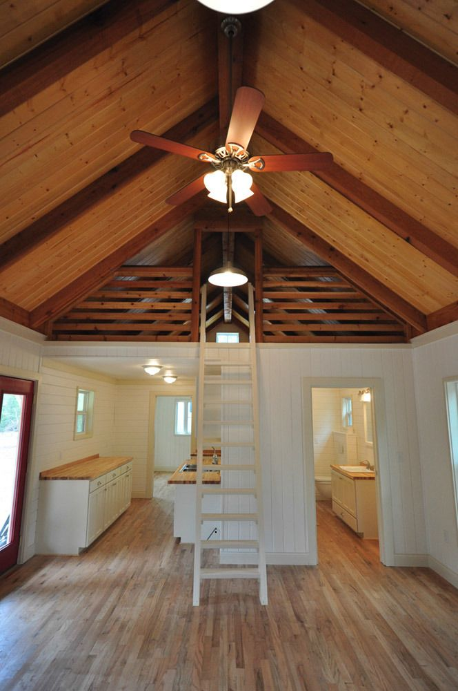 16 Tiny House Interior Design Ideas: BIG LOFT! Cottage Cabin: 16x40 +8 Ft. Screen Porch