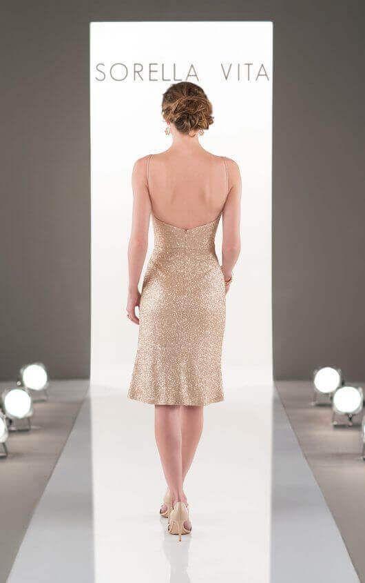 8883 Curve-Hugging Sequin Bridesmaid Gown by Sorella Vita