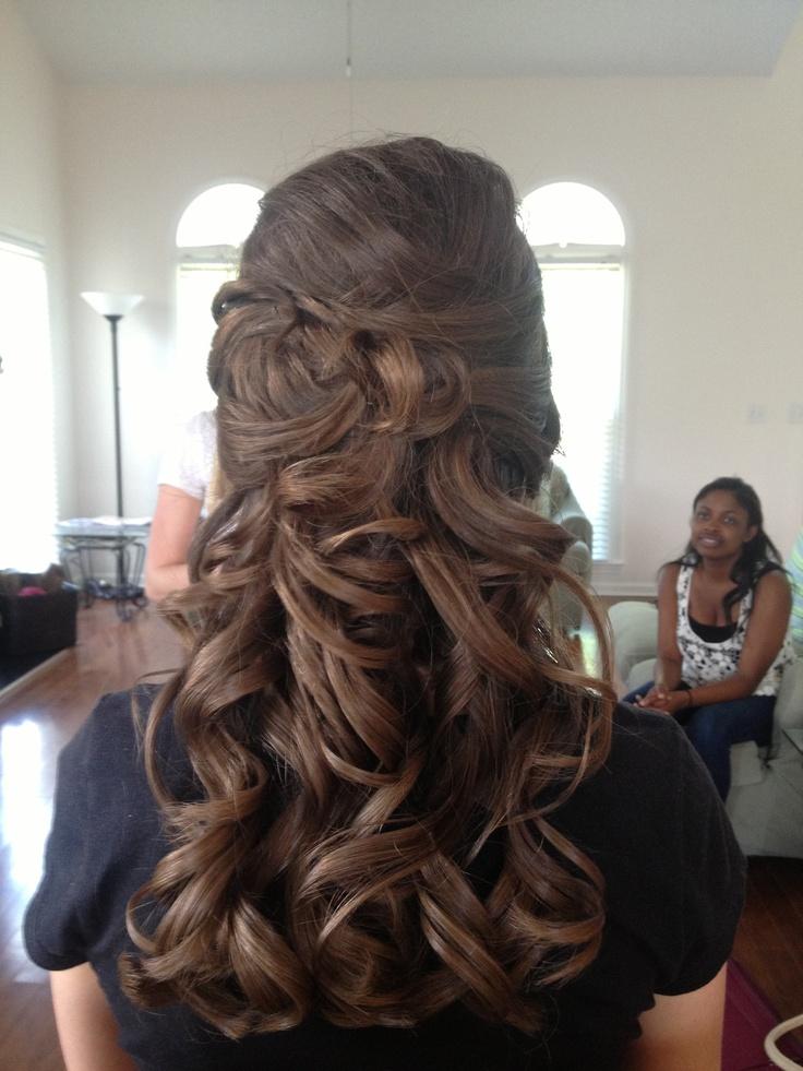 Half Up Bridal Hair Food Pinterest Bridal Hair