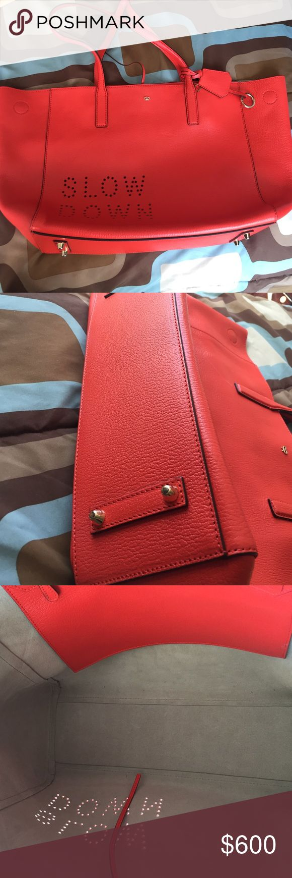 Anya Hindmarch tote bag Like new clean inside has One scratch on front checkout last picture Anya Hindmarch Bags Totes