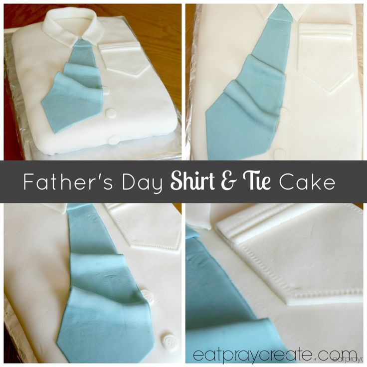Father's Day Shirt and Tie Cake (or Men's Bithday Cake Idea) | Eat Pray Create
