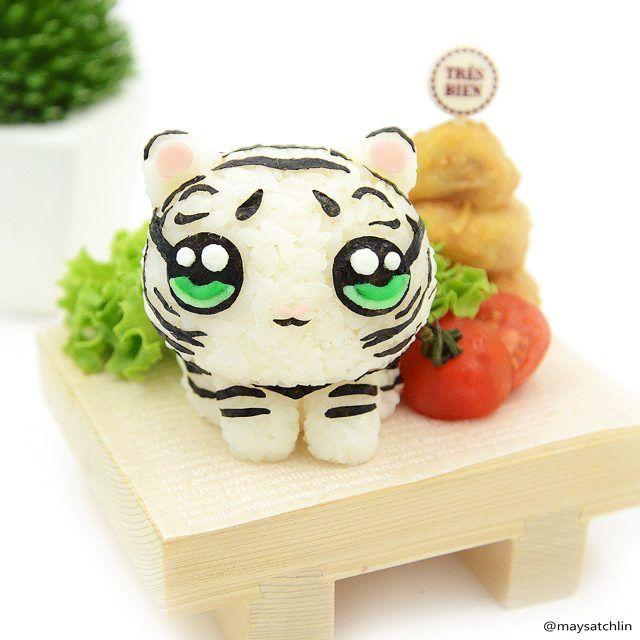 White tiger bento