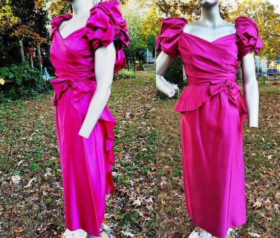Vintage Bridesmaid Dress 80s Prom Dress 80s by gottagovintage1