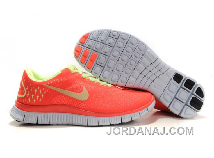 2013 New Nike Free Womens Coral Fluorescence Green Running Shoe
