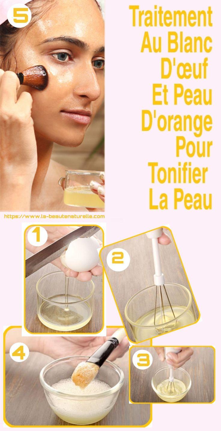Traitement au blanc d'œuf et peau d'orange pour tonifier la peau