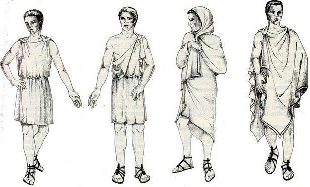 Мужское платье древних греков