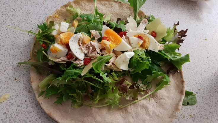 My healthy wrap for dinner