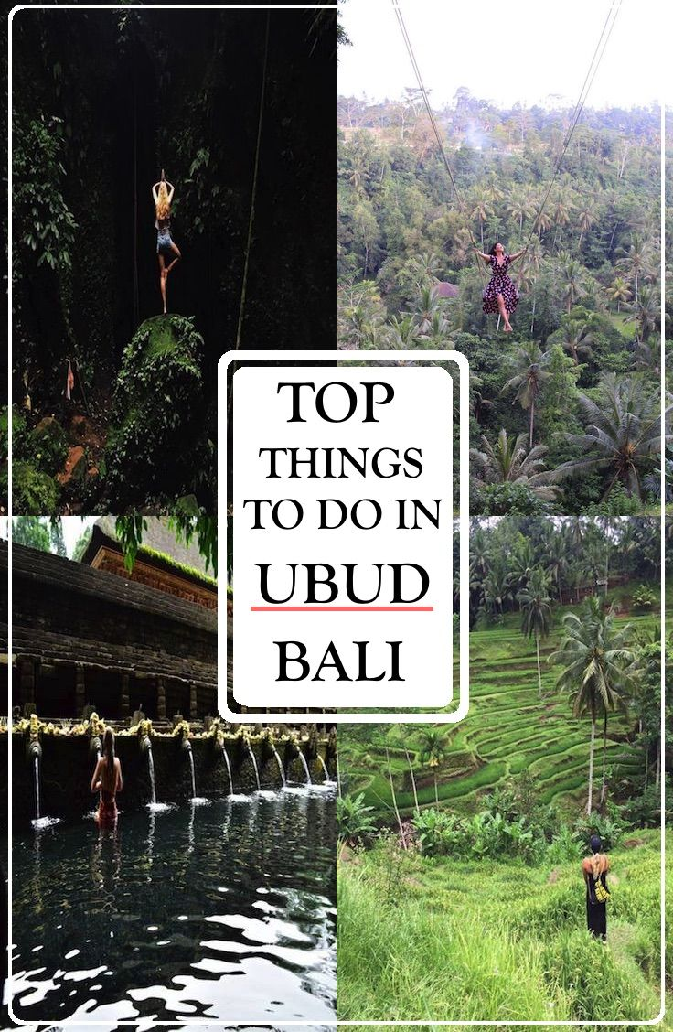 Must do activities in UBUD, Bali