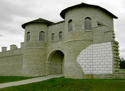 Rebuilt Roman fortifications just outside of the Franconian town of Weißenburg (courtesy of Wikipedia)