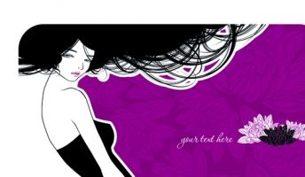 hairdresser and beauty salon theme vector background