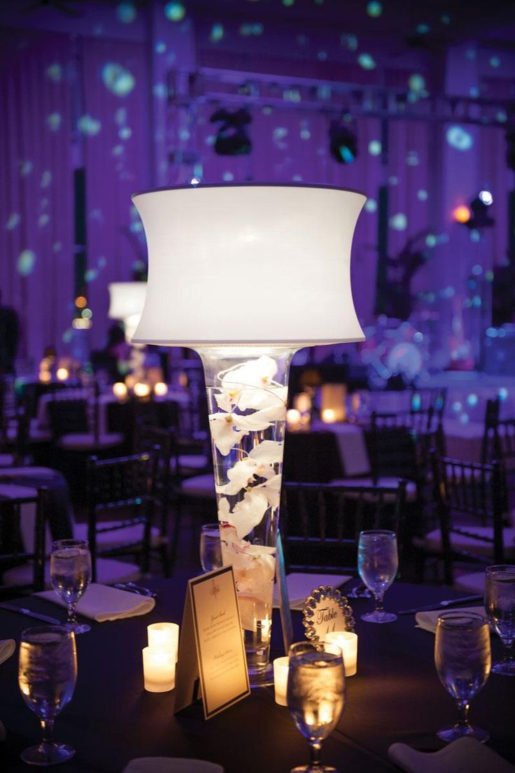 Floral Lamp Centerpiece At Wedding Mrs Prochnow Pinterest Quince Centerpieces Wedding