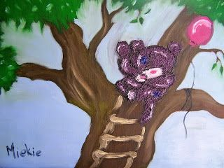 A Pretty Talent Blog: Painting Tatty Teddies In Oil Colours Part 2 of 2