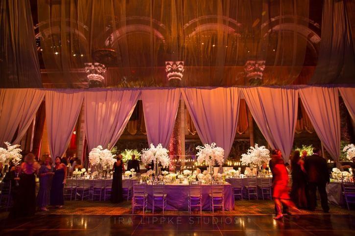 pretty reception lighting.
