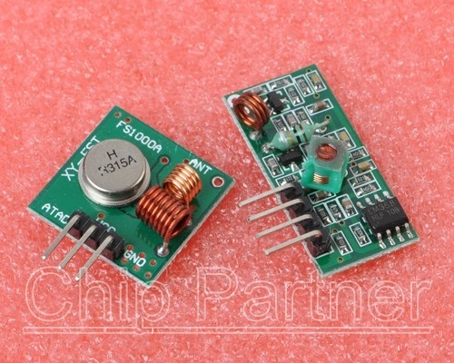 315MHz Wireless RF transmitter and receiver link kit