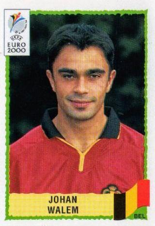 Johan Walem of Belgium. Euro 2000 card.