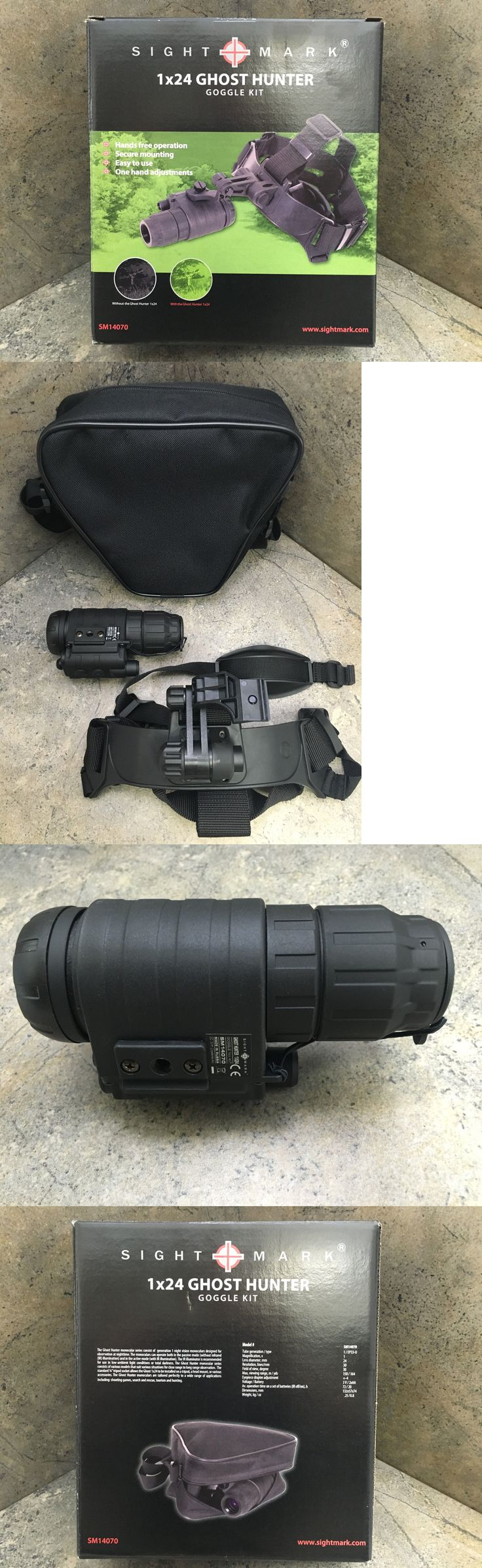 Night Vision Optics 40970: Sightmark Ghost Hunter 1X24 Night Vision Goggle Kit Sm14070 -> BUY IT NOW ONLY: $299.97 on eBay!