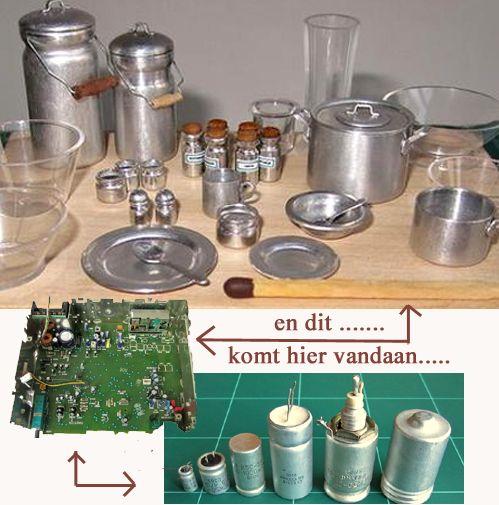 MINIDESIGN:kitchen utensils from an eletronic board