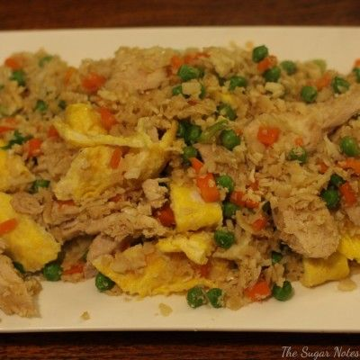 """The Sugar Notes: Cauliflower fried """"rice"""" with Chicken #IQS #IQS8WP"""