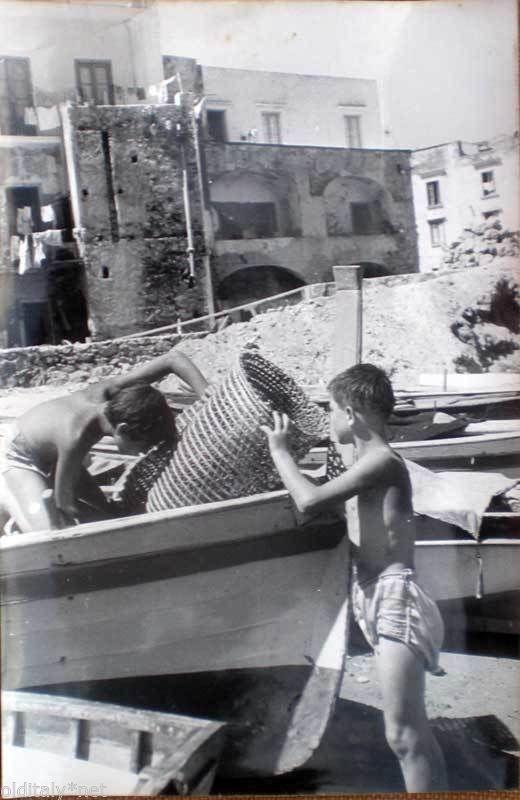 1960 70 Vintage Foto Photo Isola D'Ischia Porto Pescatori IN Erba E Nasse 12 | eBay