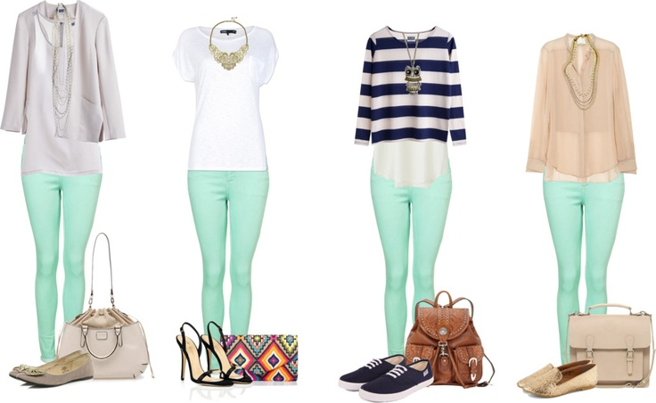 Mint Green...it's the new neutral. CAbi has jeggings this color this spring. Check them out @CAbi clothing.