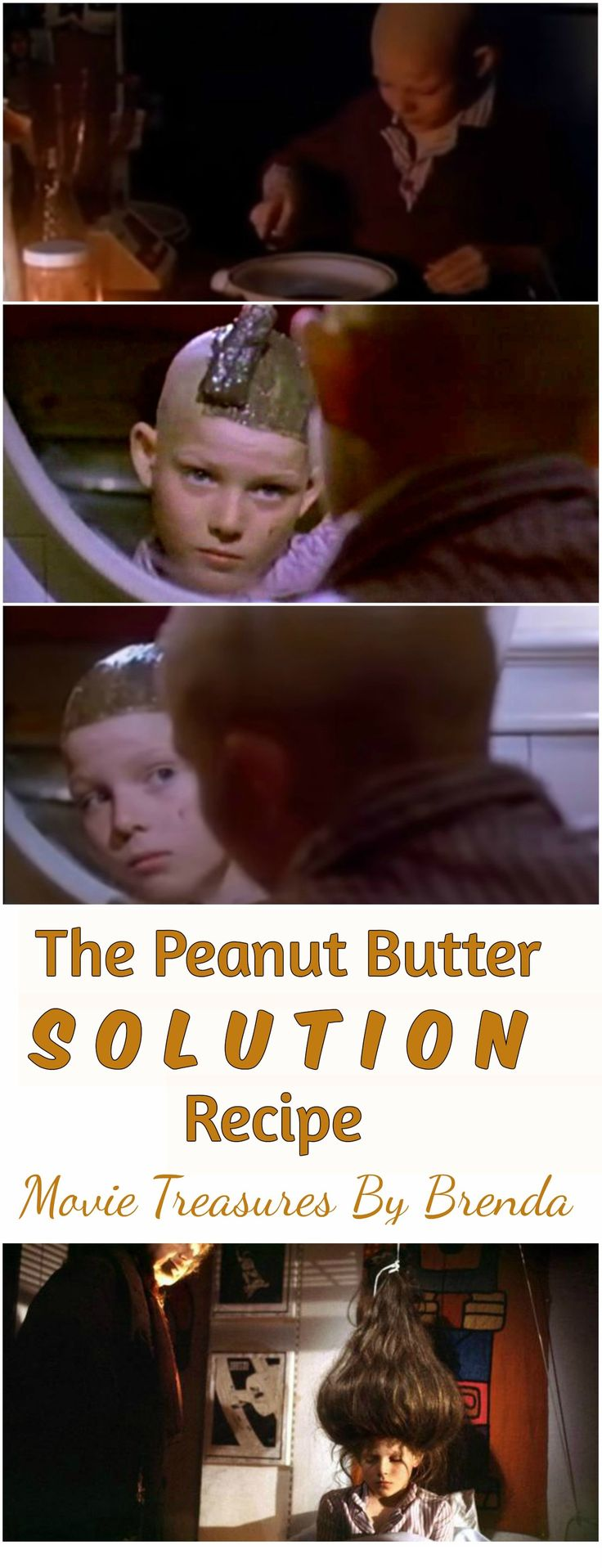 The Peanut Butter Solution movie recipe for baldness.