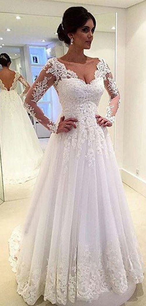 501 best Lace Wedding Dresses images on Pinterest | Wedding frocks ...