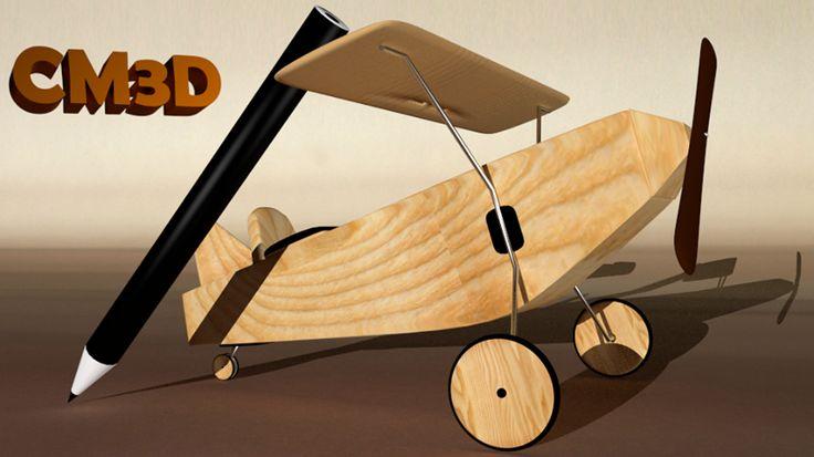 Modelado de avión y textura en madera!