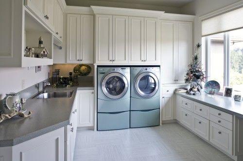 light-filled laundry room