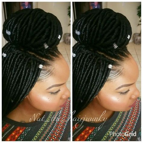 """""""2x Mambo Faux Locs 18inch Crochet Text 954-471-7585 to book your appt"""""""