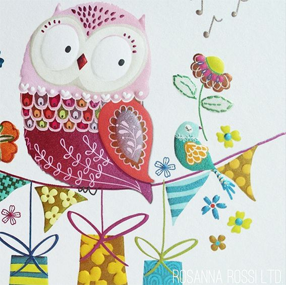 42 best rosanna rossi greetings cards images on pinterest sherbet dip owl birthday card rosanna rossi ltd bookmarktalkfo Image collections