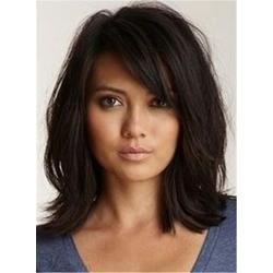 Messy Lob Loose Wavy Human Hair Capless Women Wig
